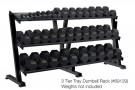 3 Tier Tray Dumbell Rack (Holds 15 pairs)  Item #69129